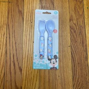 Mickey fork and spoon set
